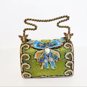 Mary Frances Green Butterfly Beaded Handbag